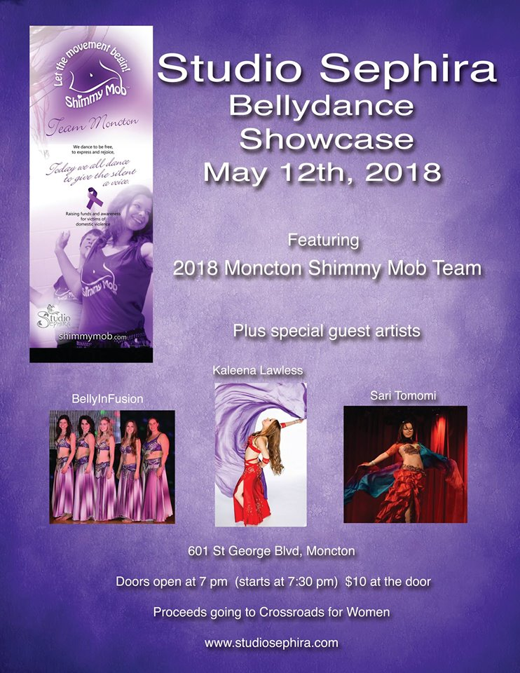 Belly Dance Showcase May 12 at 7pm in Moncton at Studio Sephira